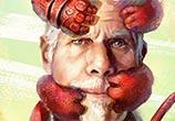 Ron Perlman and Hellboy digitalart by Aleksei Vinogradov