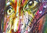 Face a face detail streetart by Alex Hopare