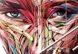 Hollywood Road streetart by Alex Hopare