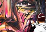Work in progress streetart by Alex Hopare