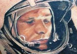 Astronaut CCCP tattoo by Alexander Romashev