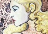 Ave tattoo oil painting by Alexandra Hudecova