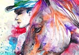 900 cowboy watercolor by Jongkie Art