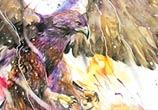 Animal inferno watercolor by Art Jongkie