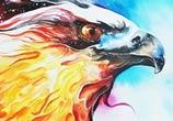 Burning Sky watercolor painting by Art Jongkie