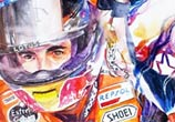 F1 Car Drivers watercolor by Art Jongkie