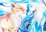 Fox painting by Art Jongkie