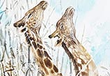 Giraffe Life painting by Art Jongkie
