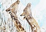 Giraffe Life painting by Art Jongkie