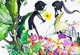Lovely Spring watercolor painting by Art Jongkie