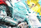 Thor vs Pikachu watercolor by Art Jongkie