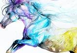 War Horse watercolor by Art Jongkie