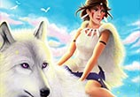 Princess Mononoke color drawing by Bajan Art