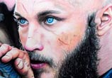 Ragnar from Vikings drawing by Bajan Art