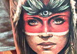 Squaw woman tattoo by Benjamin Laukis
