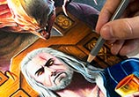 The Witcher color drawing by Bajan Art