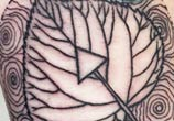 Growth layer leaf tattoo by Bambi Tattoo