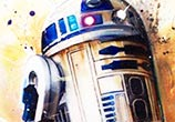 R2D2 oil painting by Ben Jeffery