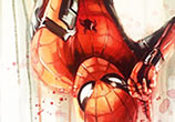 Spiderman acryl painting by Ben Jeffery