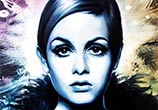 Twiggy painting by Ben Jeffery