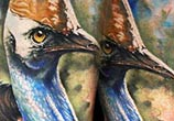 Realistic Bird tattoo by Benjamin Llaukis