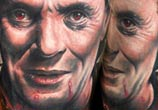Portrait tattoo of Hanibal by Benjamin Laukis