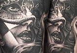 Black Mask tattoo by Benjamin Laukis