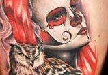 Muerte tattoo by Benjamin Laukis
