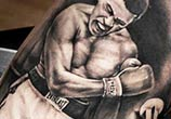 Tattoo of Muhammad Ali by Benjamin Laukis