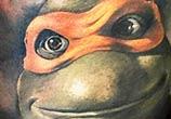 Portrait tattoo of Ninja Turtles by Benjamin Laukis