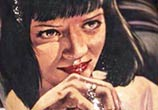 Portrait tattoo of Mia Wallace by Benjamin Laukis