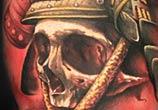 Samurai Skull tattoo by Benjamin Laukis