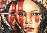 Portrait tattoo of Squaw by Benjamin Laukis