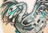 My swan tattoo by Bumpkin Tattoo