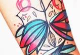Small Singing tattoo by Bumpkin Tattoo
