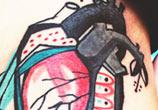 True heart tattoo by Bumpkin Tattoo