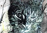 Abstract cat painting by C215