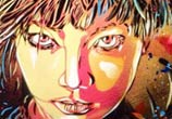 Angelina Jolie abstract portrait by C215
