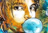 Bubble gum child by C215
