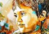 Child abstract portrait by C215