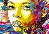 Girl portrait streatart by C215