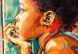 Abstract portrait girl by C215