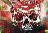 Skull stencil StreetArt by C215