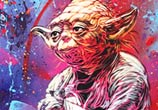 Yoda from Star Wars movie mixedmedia by C215