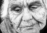 Old woman portait drawing by Charles Laveso