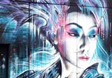 Future Geisha streetart by Dan DANK Kitchener