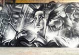 Future Tokye streetart by Dan DANK Kitchener
