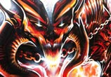 Hell hound streetart by Dan DANK Kitchener