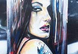 Inked Girl mixedmedia by Dan DANK Kitchener