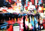Liquid Light and Tokyo Rush streetart by Dan DANK Kitchener